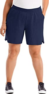 Just My Size Women's Plus Cotton Jersey Pull-On Shorts