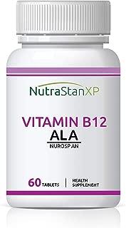 NutrastanXP Vitamin B12 Methylcobalamin 1500mcg with B1, B5, B6, Alpha Lipoic Acid ALA, Folic Acid, Inositol Supplements - 60 Tablets