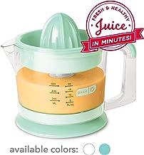 Dash Citrus Juicer Extractor: آبمیوه گیری کم حجم برای آبمیوه سالم ، پرتقال ، لیمو ، لیمو ، گریپ فروت و سایر میوه مرکبات با آب پاش آسان + پارچ 32 اونس - Aqua