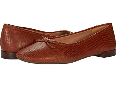 Madewell Maria Ballet Flat (Warm Nutmeg Brown Lizard) Women