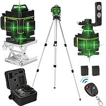 Romacci Visor LCD multifuncional de 16 linhas Ferramenta de nível de laser Linha horizontal vertical 3 ° Autonivelante com...