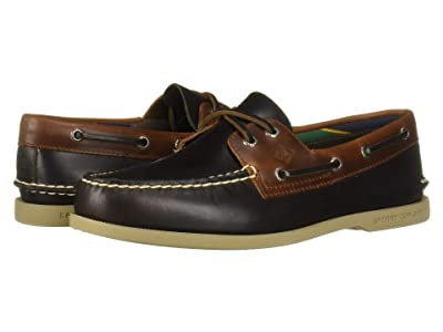 Sperry A/O 2-Eye Plush Varsity (Brown/Tan) Men