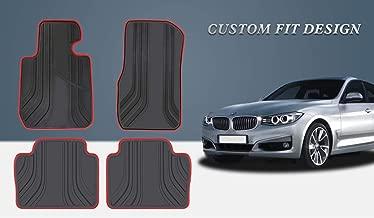 HD-Mart Car Floor Mat for BMW 3/4 Series Custom Fit F30 F31 F32 F33 F36 2012-2013-2014-2015-2016-2017-2018,Rubber All Weather Heavy Duty & Odorless