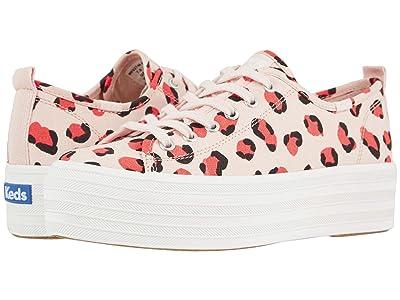 Keds Triple Up Leopard (Light Pink/Coral) Women
