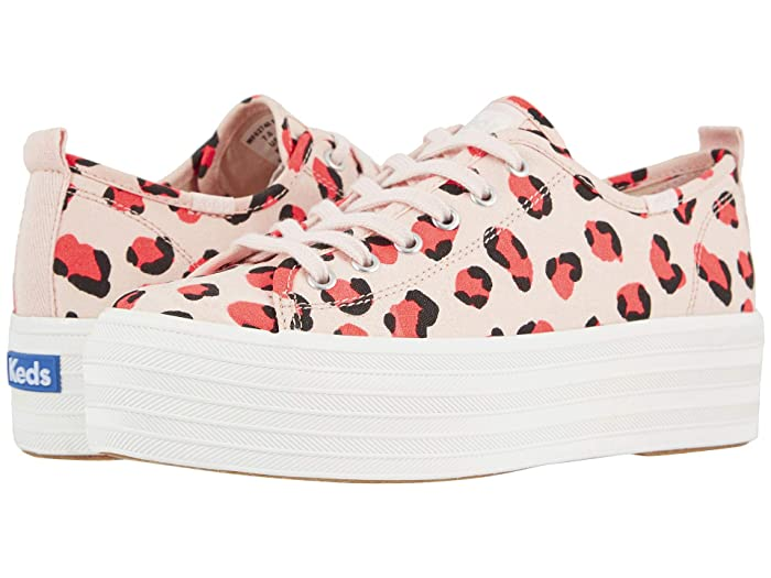 Keds  Triple Up Leopard (Light Pink/Coral) Womens Shoes