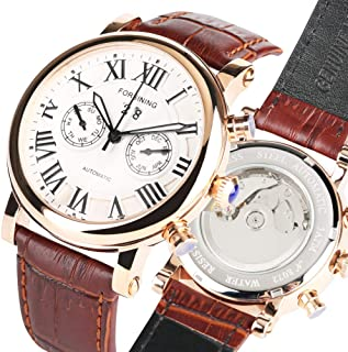 Classic Automatic Mechanical Watches for Men, Bussiness Mechanical Watch for Teenagers, with Calendar Watch