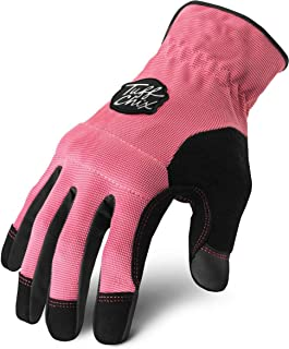 Ironclad Tuff Chix Women's Work Gloves TCX, Designed for Women's Hands, Performance Fit, Durable, Machine Washable, Sized S, M, L, XL (1 Pair)