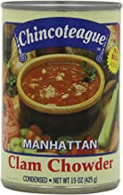 Chincoteague Seafood Manhattan Clam Chowder, 15-Ounce Cans (Pack of 12)