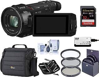 Panasonic HC-WXF1K 4K UHD Camcorder, 24x Leica Dicomar Lens, Bundle with Video Bag + 62mm Filter Kit + 32GB SDHC Card + Cl...