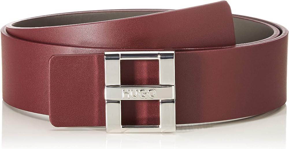 Hugo boss, cintura per  donna, in pelle liscia con chiusura ad ardiglione griffata 50391335