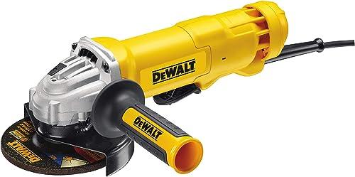 DeWalt DWE4233-QS Meuleuse Ø 125 mm, 1400W, Interrupteur palette filaire, Vitesse à vide 11500 tr/min, M14, Poignée latérale anti-vibrations et multi-positions product image