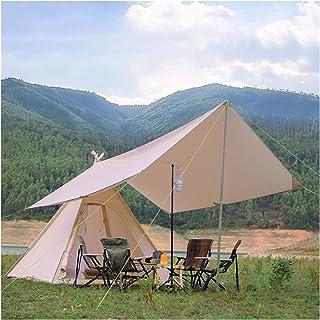YSJJYQZ tält bomull utomhus pyramidtält 3–4 personer familj indiskt Tipi tält camping tipi backpacking markiser skydd tält...