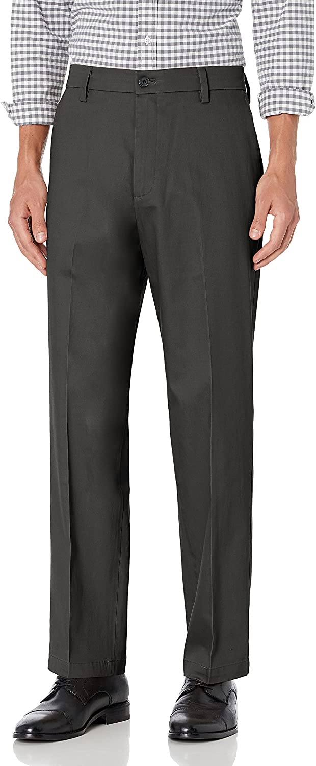Dockers Men's Relaxed Fit Signature Pan Lux Free Shipping New Stretch Khaki Max 88% OFF Cotton