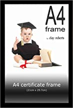 A4 Black Photo Frame, Picture Frame, Certificate Frame, Wall Mountable and Table Top