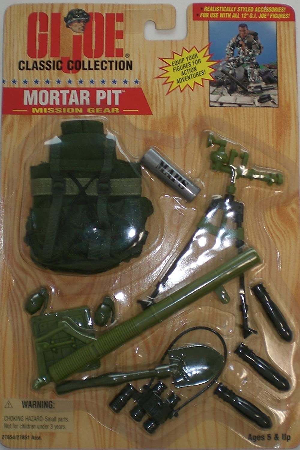 1 6 Scale 1996 GI Joe Mission Gear Mortar Pit for 12 inches Action Figure