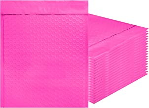 Amiff Pink Poly Bubble mailers 8.5 x 11 Padded envelopes 8 1/2 x 11. Pack of 20 Poly Cushion envelopes. Exterior Size 9.5 x 12 (9 1/2 x 12). Peel and Seal. Mailing, Shipping, Packing, Packaging.