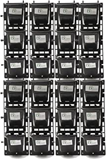 BIO BLOOMS AGRO INDIA PRIVATE LIMITED Vertical Wall Garden M1 8 Panel with Hanging 24 Pots (Black, Color Bio_80A)