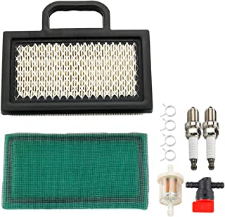 GY20575 LG499486S Air Filter Tune Up Kit for John Deere Lawn Mower Tractor Snow Blower 125 135 145 155C 190C D130 D140 L111 L118 L120 LA120 LA130 LA135 LA140 LA145 LA150 X130R X140 X155R X165