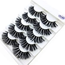 5 Pairs Mink Eyelashes 3D False Lashes Thick Crisscross Makeup Extension Natural Volume Soft Fake Eye Lashes,5Pairs,Jkx80