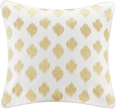INK+IVY Nadia Dot Metallic Embroidery Square Pillow, Gold