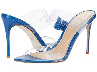 Massimo Matteo Vinyl Strapped Sandal (Blue) Women
