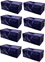 Earthwise Heavy Duty Extra Large Storage Bag Moving Tote Backpack Carrying Handles & Zipper - Compatible with IKEA Frakta Hand Carts Boxes Bin (8 Pack)
