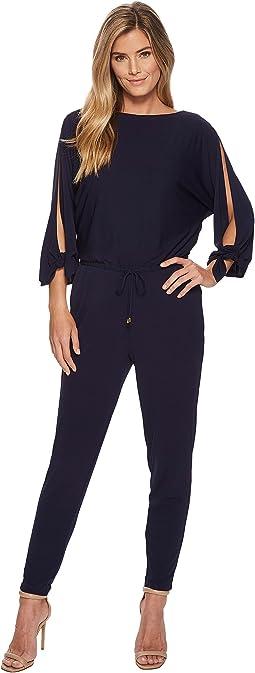 LAUREN Ralph Lauren - Slit-Sleeve Jersey Jumpsuit