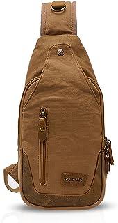 FANDARE Bolsa de Pecho Hombres Bolso de Hombro Lona Bolso Messenger Bolso Bandolera Sling Bag para Deportes Gimnasio Viaje...