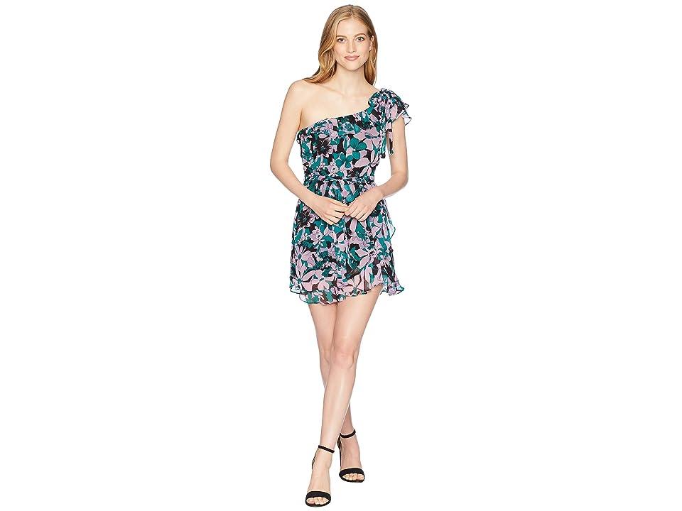 For Love and Lemons Maritza Floral One Shoulder Dress (Lilac Floral) Women