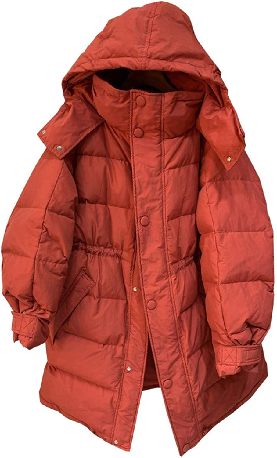 Ladies Padding Outerwear , Hooded Winter Coat Quilted Puffer Jacket with Pockets
