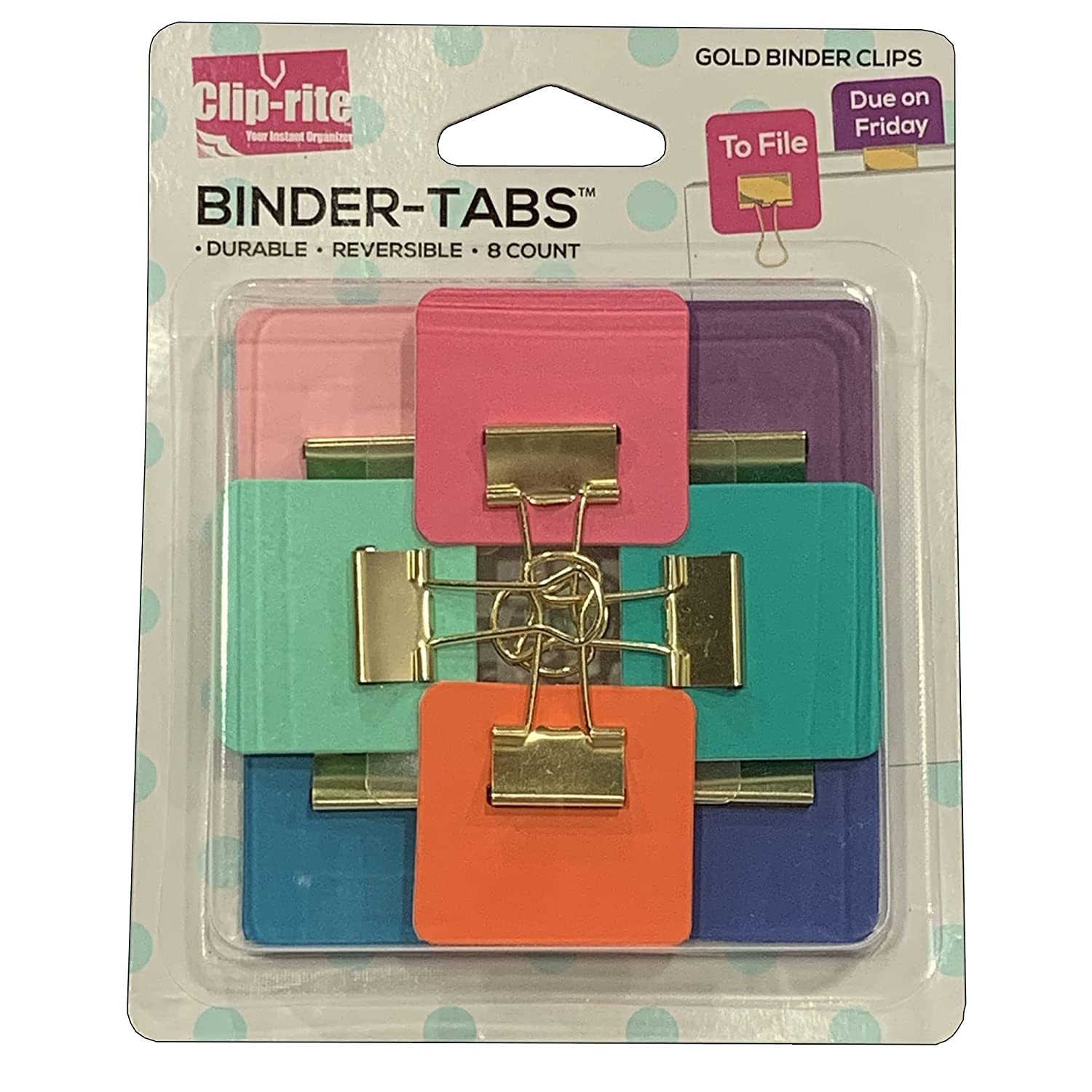 Clip-rite Binder Tabs Assorted Gold Plated 8 Pack 1 Recommended year warranty of
