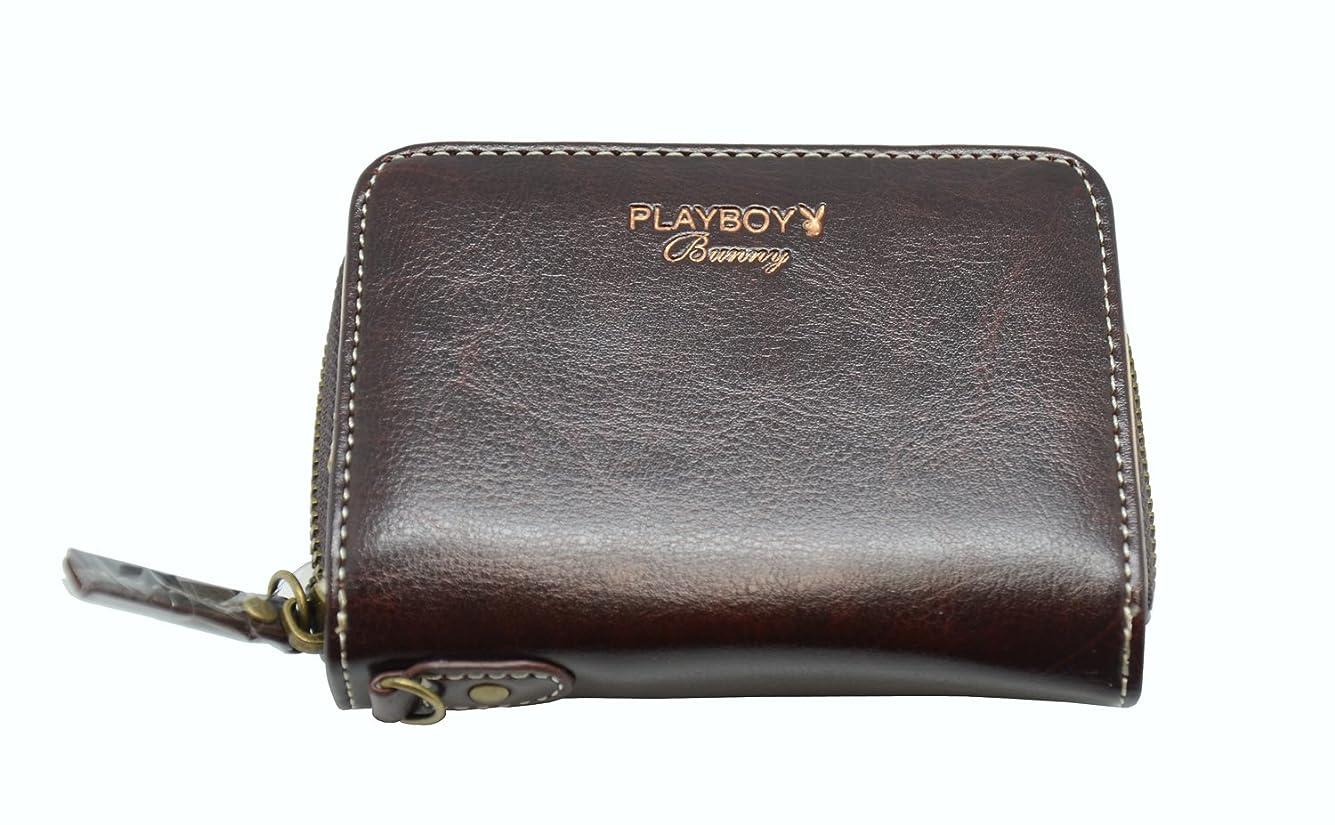 突き出すヨーグルト東プレイボーイ 財布 札入れ 二つ折 ベージー ベラ 付き ブラウン カード 6枚 MPB-0091
