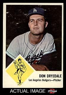 1963 Fleer # 41 Don Drysdale Los Angeles Dodgers (Baseball Card) Dean's Cards 3 - VG Dodgers