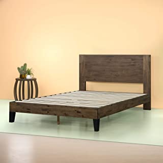 Zinus Tonja Platform Bed / Mattress Foundation / Box Spring Replacement / Brown, Twin
