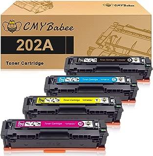 CMYBabee Compatible Toner Cartridges Replacement for HP 202A HP CF500A for HP Laserjet Pro M281fdw M254dw M254dn M254nw M281dw MFP M281fdn M281cdw M281 M254 (BCMY-4Pack)