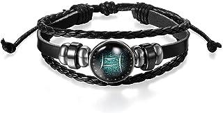 Impression Leather Silver Plated Bracelet for Unisex Adult