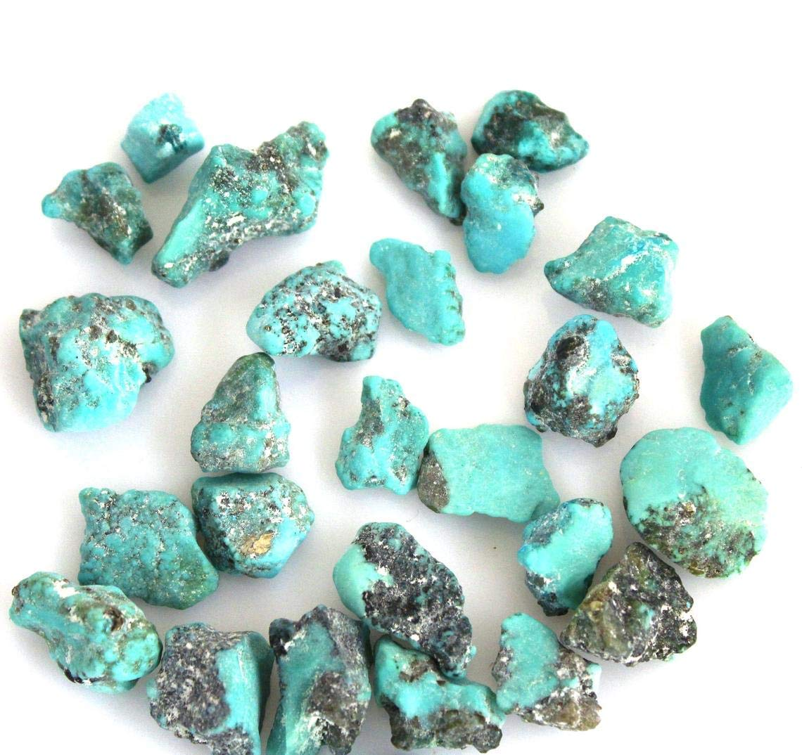 Gempires Natural Raw Turquoise Gemstone Loose Making Jewelry Sale Soldering price Ge