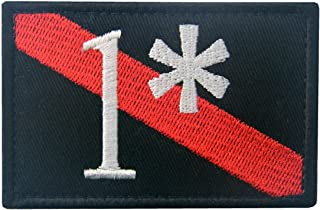 Firefighter Patch One Ass to Risk 1 Thin Red Line Embroidered Tactical Applique Morale Hook & Loop Emblem