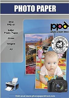 PPD Papel fotográfico con acabado muy brillante para impresión de tinta A3 180 g/m² X 20 hojas PPD-81-20