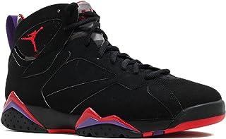 00a0c5d52b136 Nike Mens Air Jordan 7 Retro Raptor Black True Red-Dark Charcoal-Purple