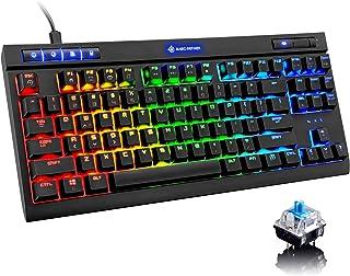 Mechanical Gaming Keyboard,Chroma RGB 18 Kinds LED Backlit B