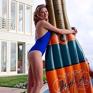 L.J.JZDY Airbeds uppblåsbar flaska flytande rad PVC-flaska flytande säng 2 m x 1 m lätt att bära mjuk och bekväm pool flyt...