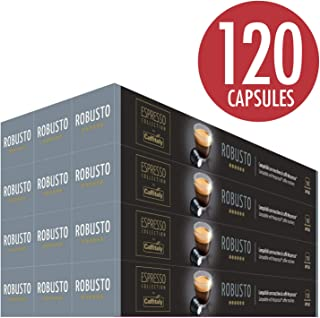 Caffitaly Nespresso Compatible Coffee Capsules Intensity 10/10 (Robusto, 120 Pods)