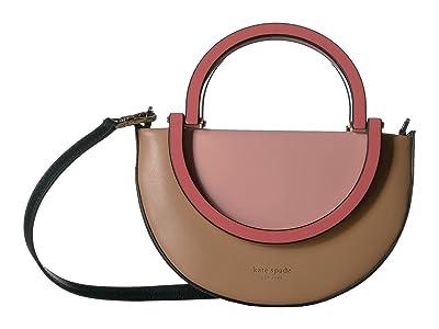 Kate Spade New York Betty Small Half Moon Crossbody (Cosmetic Pink Multi) Handbags