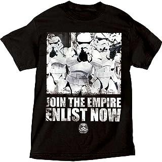 """تيشيرت رجالي مطبوع عليه عبارة """"Join The Empire"""" من Star Wars Storm Troopers أسود وأبيض (X-Large)"""
