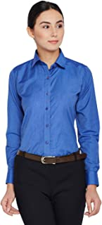 Lamode Ladies Solid Blue Formal Shirt 410