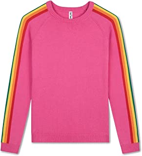 Kid Nation Kids Sweater Pullover Long Sleeve with Rainbow Stripe
