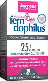 Jarrow Formulas Fem-Dophilus, 5 Billion Organisms Per Cap, for Vaginal and Urinary Tract Health, 30 Count (Cool Ship, 3 Pack)