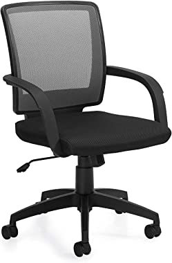 GOF Double 4 Person Separate Workstation Cubicle (C-12'D x 12'W-W) / Office Partition, Room Divider (Chair Only, Black)