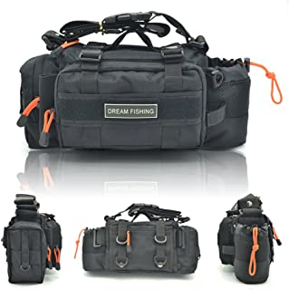 BLISSWILL Portable Outdoor Fishing Tackle Bags Waist Fishing Bag Fishing Gear Storage Bag Water-Resistant Multifunctional Bag Fly Fishing Bag Durable Handbag Bags for Fishing